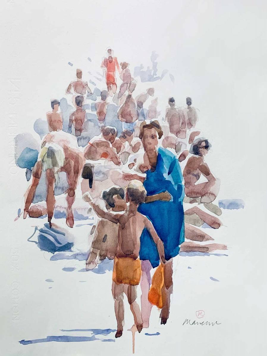 bagnanti-2020-watercolor-50x35-cm