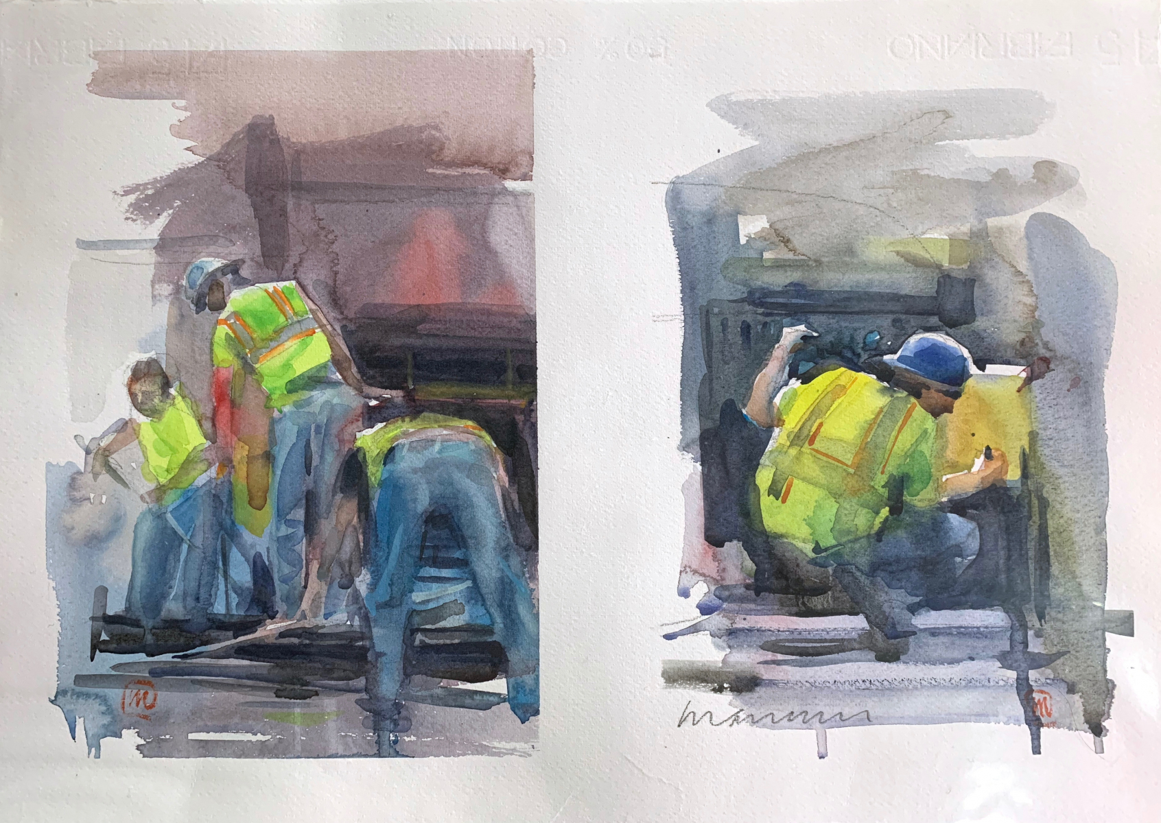 Cantieri, 2013, watercolor, 50x35 cm