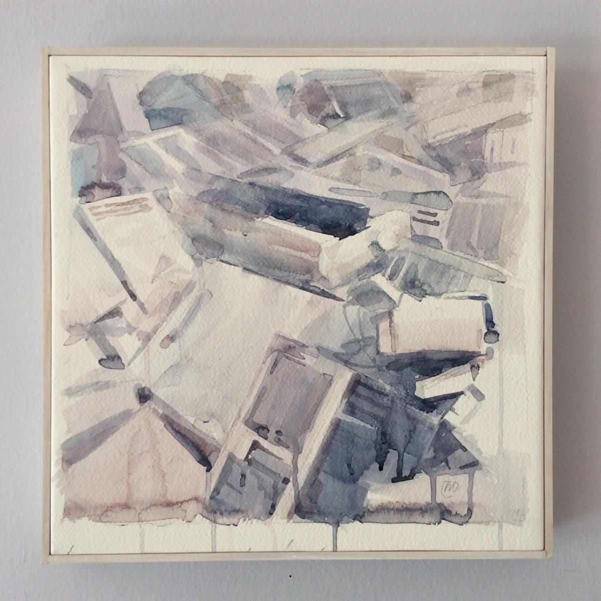 01644 Fiducia nell'ignoto, 2015, Wcolor su carta intelata, cm 35x35