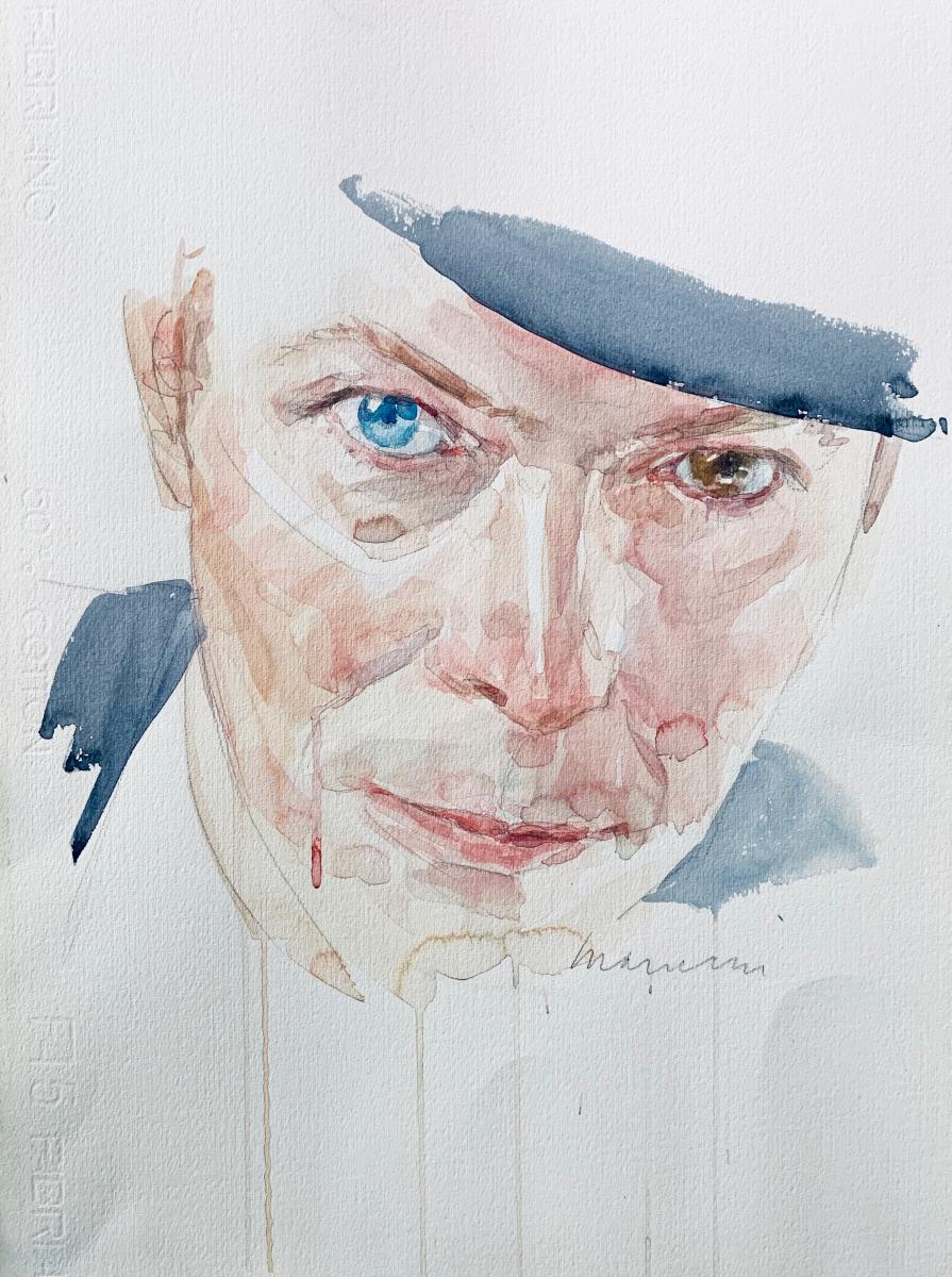 David, 2016, watercolor, 50x35 cm