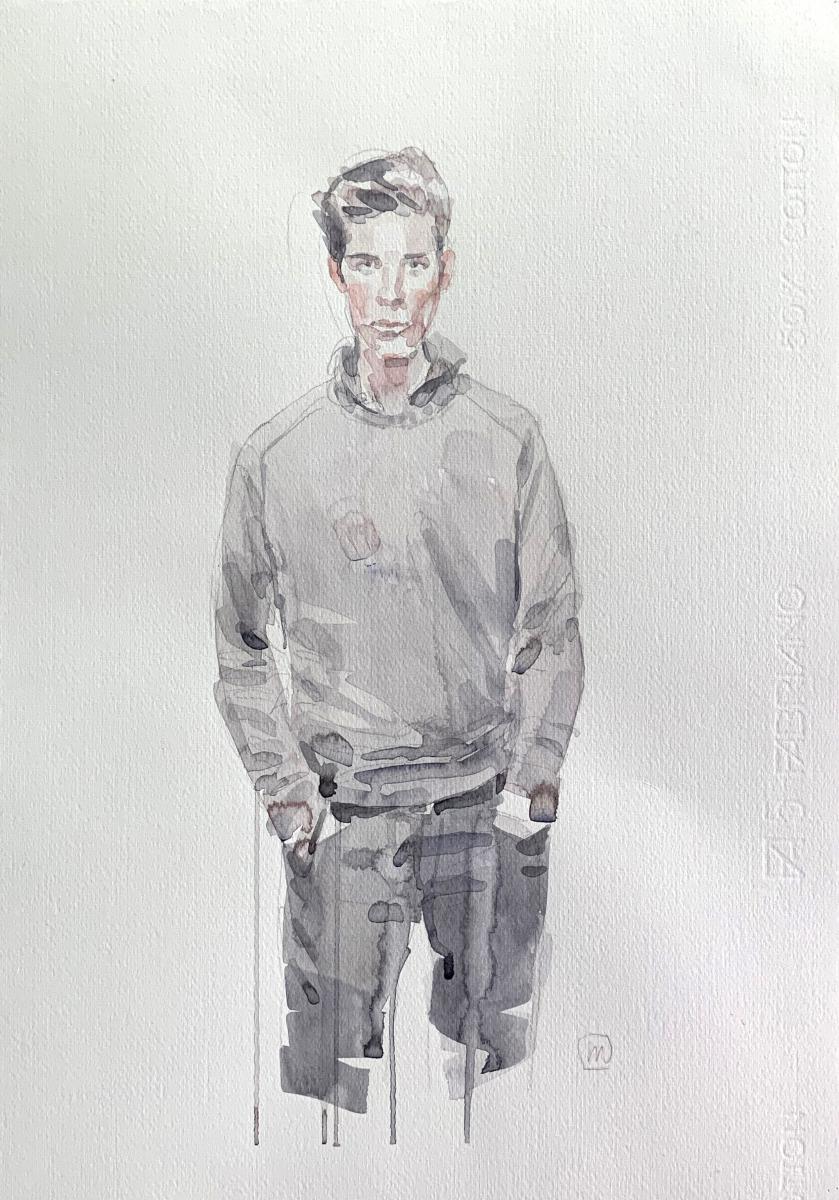 Model, 2012, watercolor, 50x35 cm