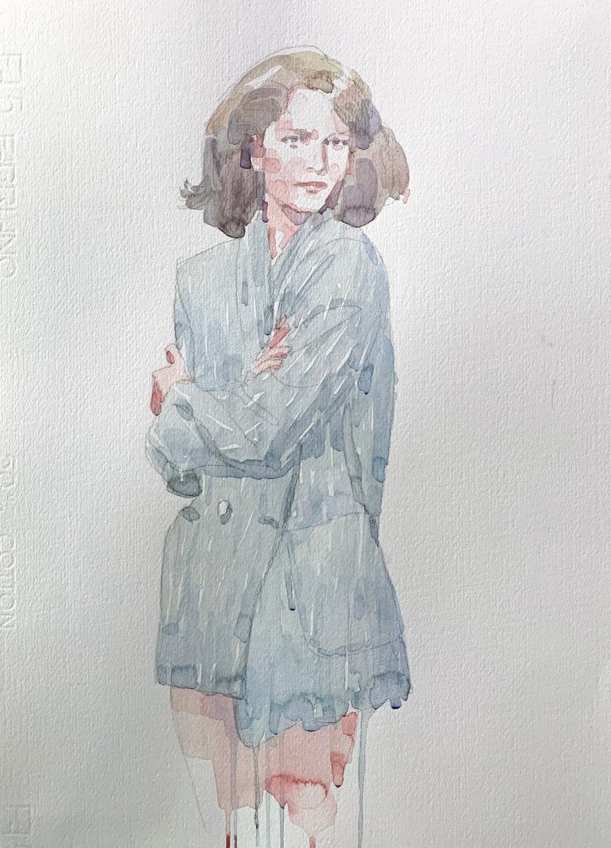 Model, 2013, watercolor, 50x35 cm