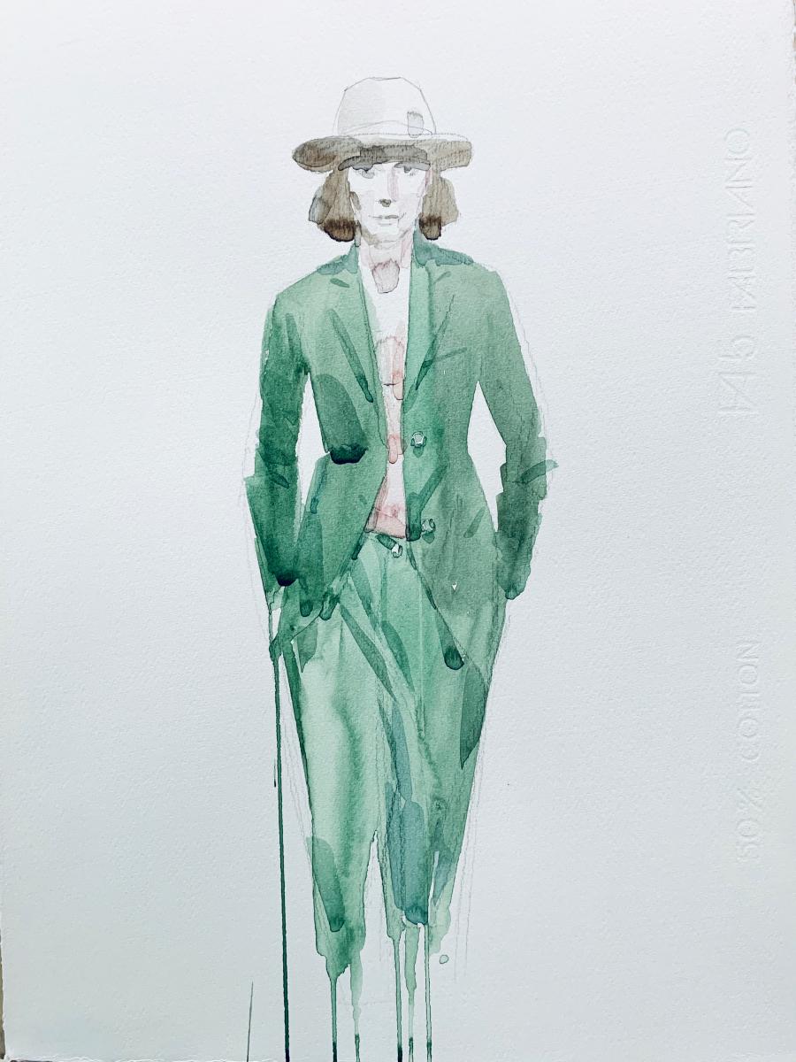 Model, 2014, watercolor, 50x35 cm