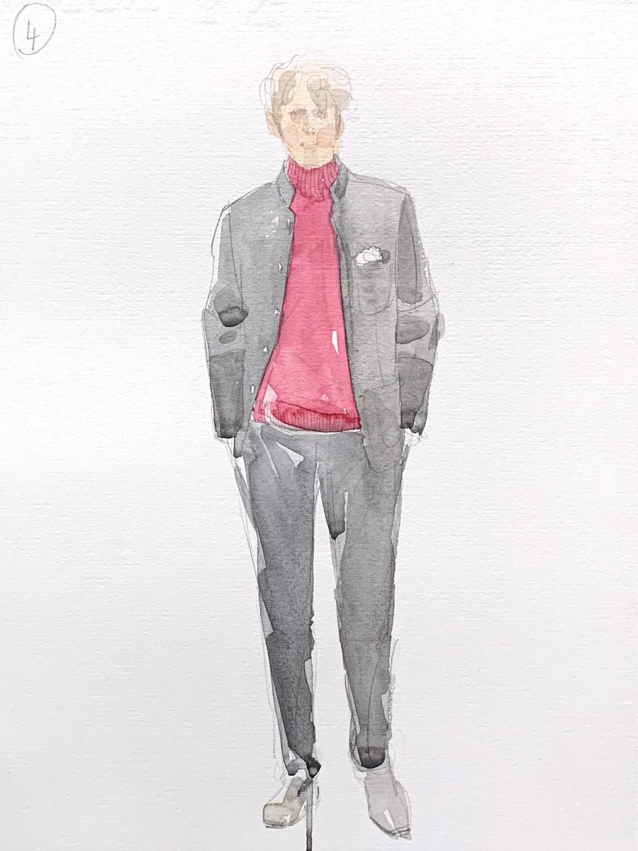 Model, 2015, watercolor, 35x25 cm