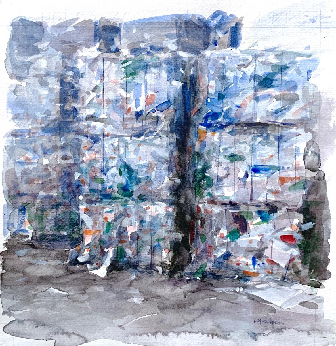 Plastiche, 2010, watercolor, 35x35 cm
