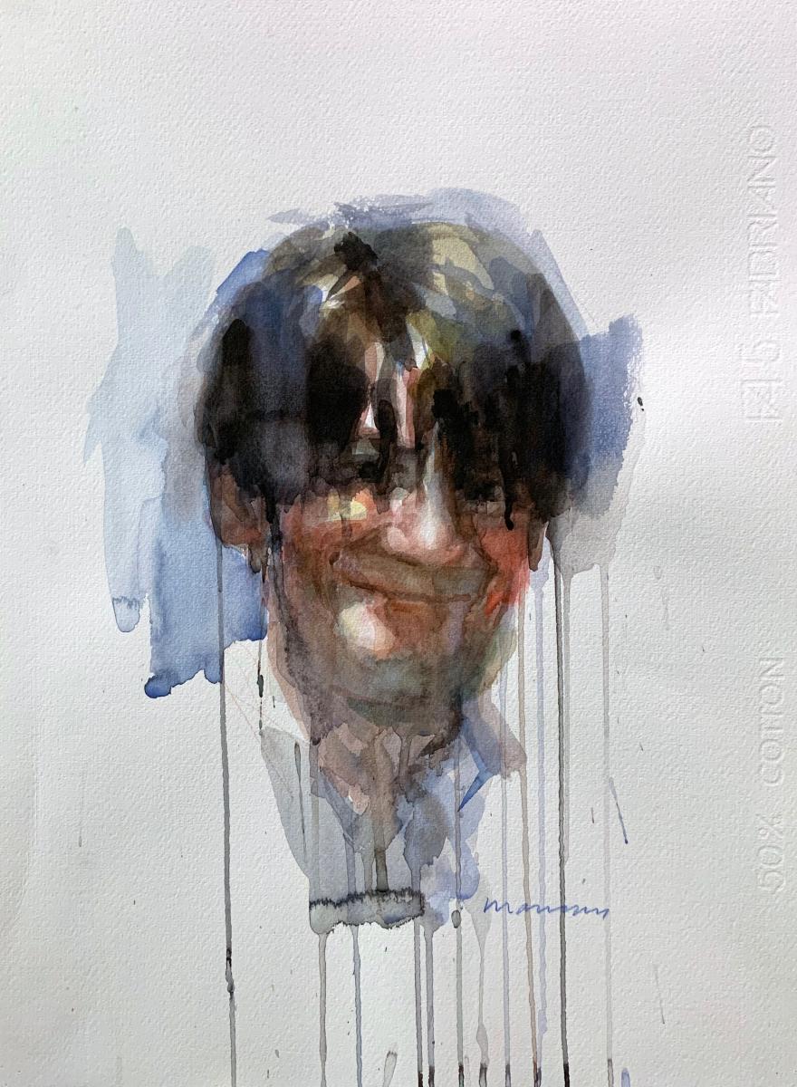 SelPortrait, 2010, watercolor, 50x35 cm