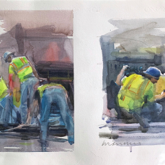 Cantieri, 2013, watercolor, 50x35 cm