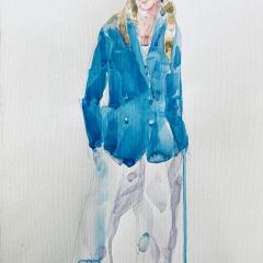 Chloe, 2017, watercolor, 50x35 cm