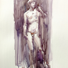 David, 2018, watercolor, 50x35 cm