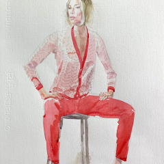 Model, 2012, watercolor, 50x35 cm