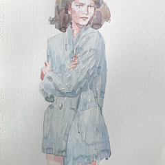 Model, 2013, watercolor, 50x35 cm
