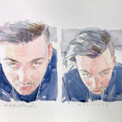 Nicolò, 2014, watercolor, 50x35 cm