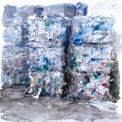 Plastiche, 2010, watercolor, 35x35 cm