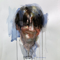 SelPortrait, 2010, watercolor, 50x35 cm