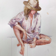 Stefania, 2009, watercolor, 50x35 cm